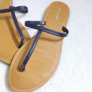Old Navy Shoes - old navy blue t strap sandals